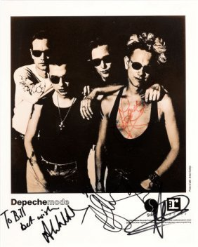 Depeche Mode Signed Promotional Photo (1990). An