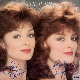 The Judds Signed Why Not Me Lp (rca Ahl 1-5319,