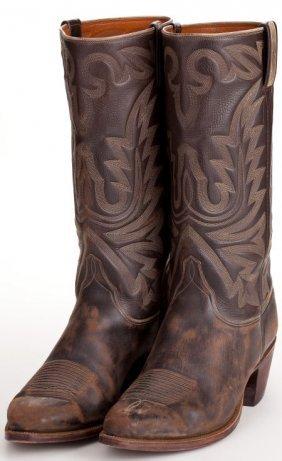 A John Wayne Pair Of Lucchese Cowboy Boots Likel