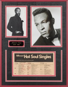 Marvin Gaye Signed Billboard Chart. Excerpt Of A
