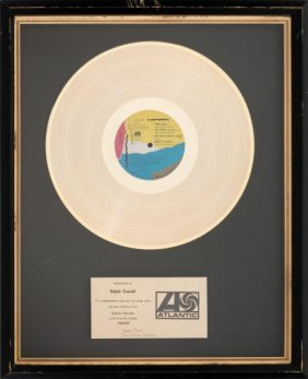 Genesis Abacab Atlantic In-house Gold Record Awa