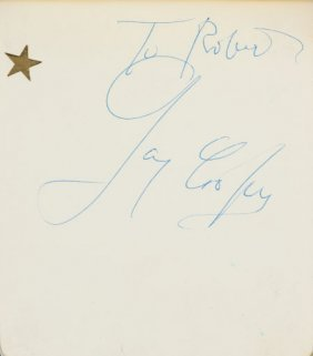 An Autograph Book With Signatures Including Gary