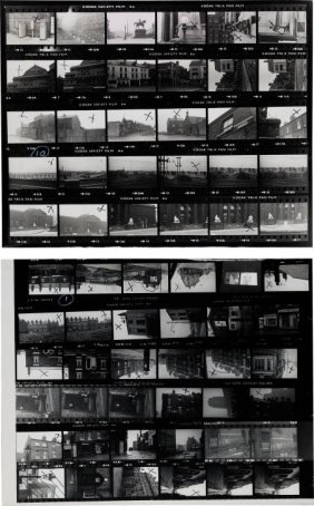 Beatles - Two Contact Sheets For Locations Used