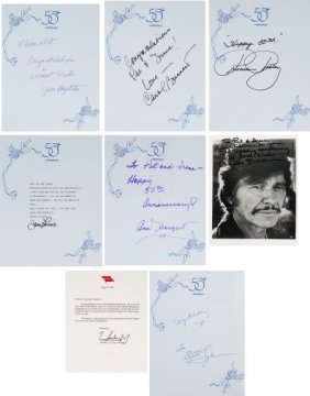 A Large Collection Of Celebrity Autographs, Circ