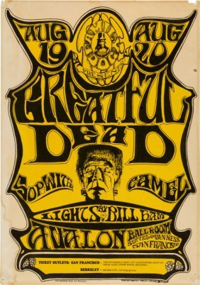 "Grateful Dead ""greatful Dead"" Avalon Concert Pos"