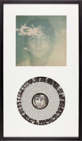 Beatles - John Lennon Signed Imagine Lp In Frame