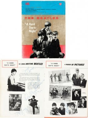 Beatles Signed A Hard Day's Night Royal World Pr