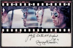 Beatles - George Harrison Signed Photo Card (197