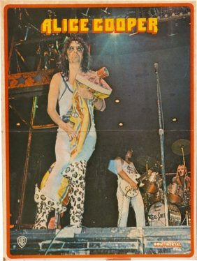 Alice Cooper - Neal Smith Owned Mounted Poster (