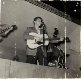 Elvis Presley Signed Photo (1955). A Small B&w S