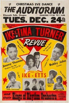 Ike & Tina Turner Concert Poster (circa 1961). A