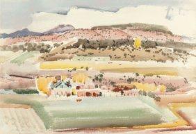 Victor Higgins (american, 1884-1949) Taos, Circa