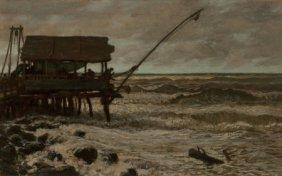 Elihu Vedder (american, 1836-1923) Fishing Hut O