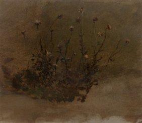 Elihu Vedder (american, 1836-1923) Wild Flowers