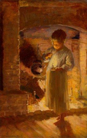 Adam Emory Albright (american, 1862-1957) Firesi