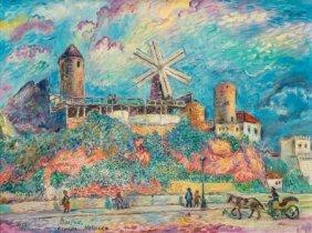David Burliuk (ukrainian/american, 1882-1967) Es