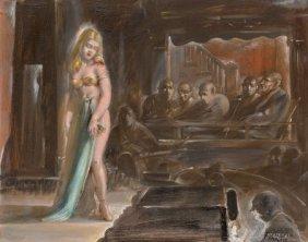 Reginald Marsh (american, 1898-1954) Burlesque Q