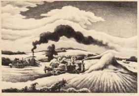 Thomas Hart Benton (american, 1889-1975) Threshi