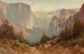 Thomas Hill (american, 1829-1908) Yosemite Oil O