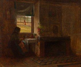 Eastman Johnson (american, 1824-1906) Interior O