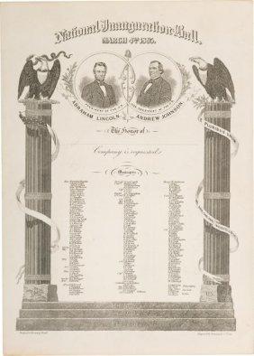 Lincoln & Johnson: Jugate Inauguration Ball Invi