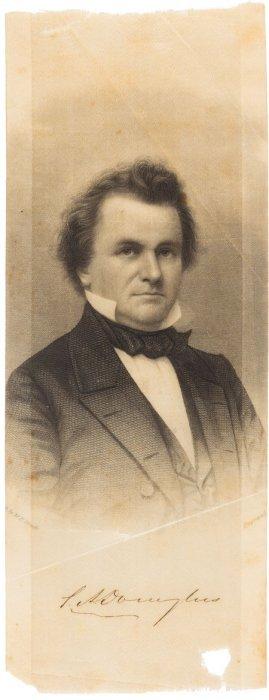 Stephen A. Douglas: Single Portrait Brady Ribbon