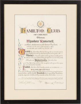 Theodore Roosevelt: Hamilton Club Illuminated Do