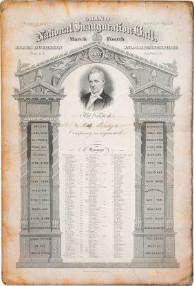 "James Buchanan: Inauguration Ball Invitation. 7"""