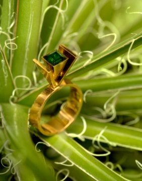 Jens Asby (danish, 20th Century) Modernist Ring,