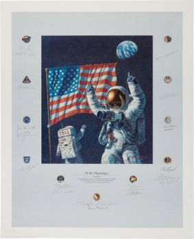 """Alan Bean Signed Limited Edition """"in The Beginni"""