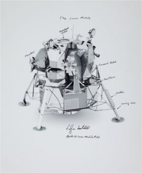 Edgar Mitchell Signed And Annotated Large Photo