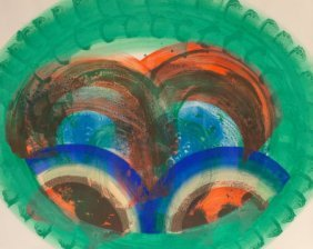 Howard Hodgkin (b. 1932) Red Palm, 1986 Lithogra