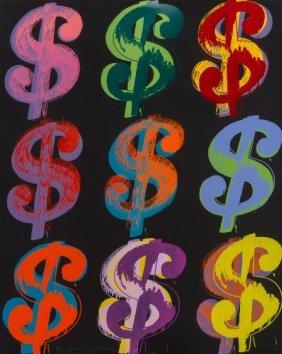 Andy Warhol (1928-1987) $ (9), 1982 Unique Scree