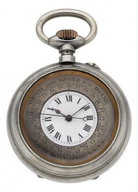 "Swiss ""montre Barometer"" Unusual Pocket Watch, C"