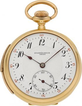 Stammelbach Swiss 18k Gold Minute Repeating Pock