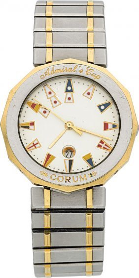Corum Admiral's Cup Two Tone Wristwatch Case: S
