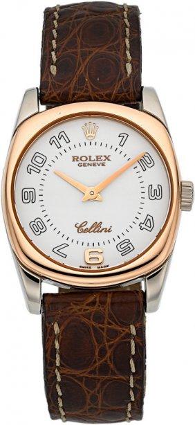 Rolex 18k Rose & White Gold Celinni Danaos Lady'