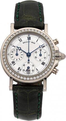 18k White Gold & Diamond Lady's Horologer De La