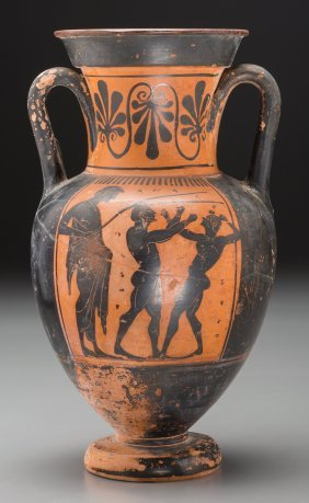 An Attic Black-figured Neck-amphora, Attributed