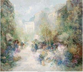 Willi Bauer (german, B. 1923) Parisian Flower Ma