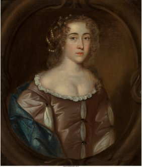 British School Portrait Of Lady At Half-length