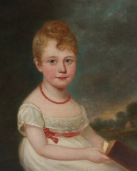 American School (Early 19th Century), Young Girl