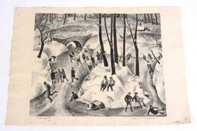 "Mildred Emerson Williams (Detroit), ""Winter Sport"""