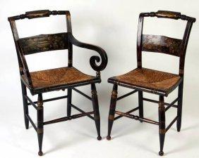 Six Sheridan Fancy Chairs, American