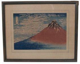 "Katsushika Hokusai (1760-1849), ""red Fuji"""