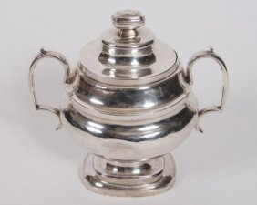 John Wesley Forbes Sterling Silver Pot With Lid