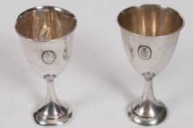 Group Of Two Sterling Silver Cups