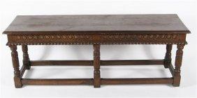 Jacobean Oak Hall Bench