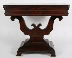 American Empire Mahogany Games Table