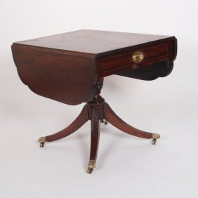 Federal Mahogany Drop-leaf Breakfast Table